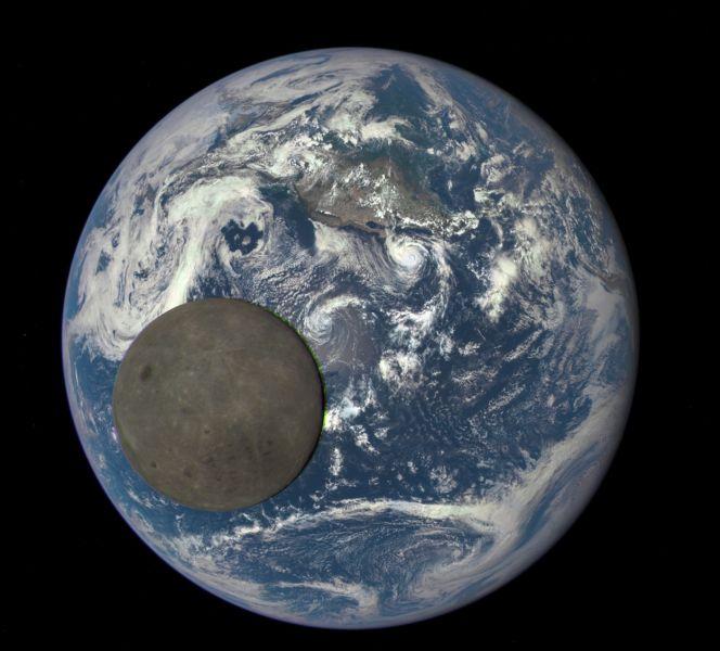 Der Erdtrabant vor unserem Planeten – diesen Schnappschuss machte das Deep Space Climate Observatory der NASA am 16. Juli 2015. (Bild: NASA/DSCOVR-Team)