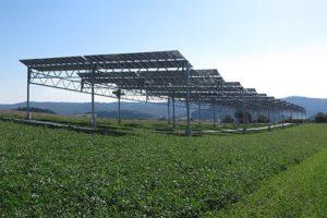 Solaranlage im Feld