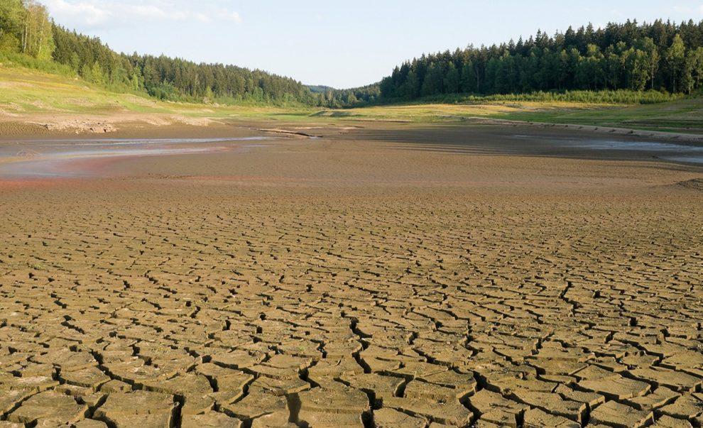 ausgetrockneter See