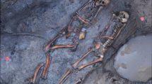 Steppennomaden-Skelette