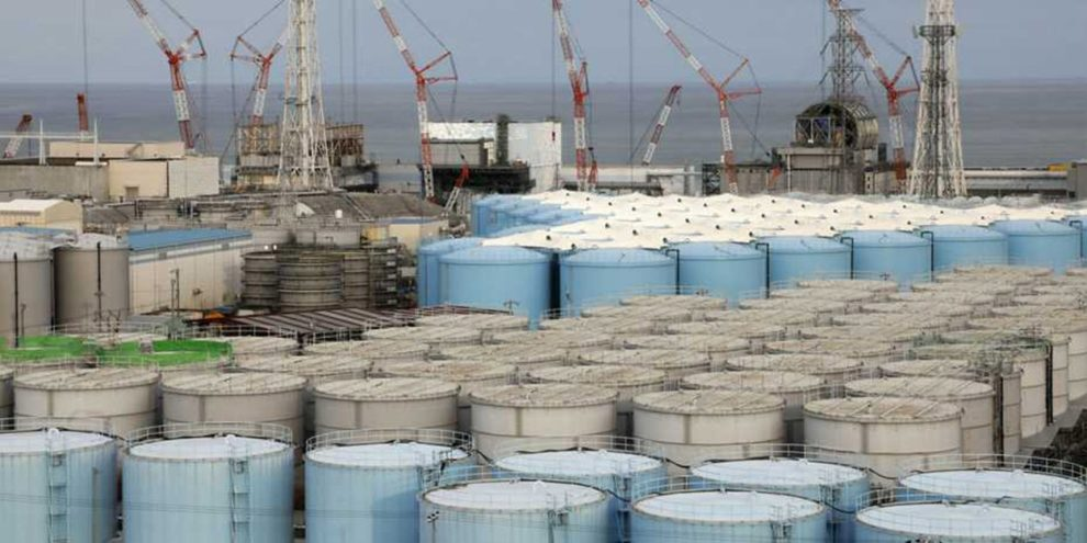 Wassertanks in Fukushima