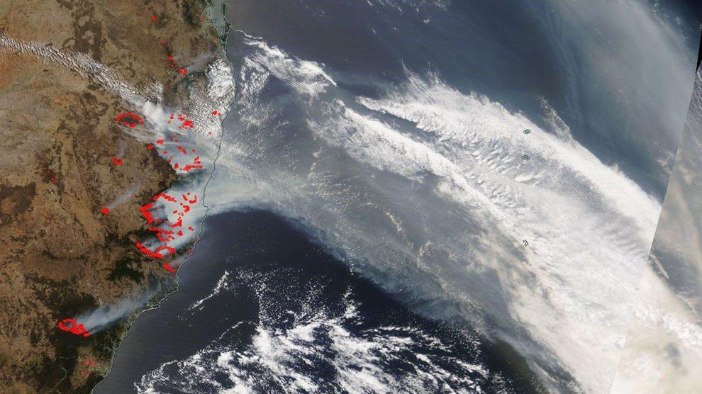 Buschfeuer in Australien aus dem All