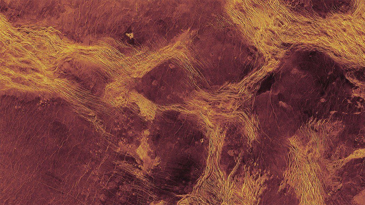 "Eisschollen""-Tektonik auf der Venus - wissenschaft.de"