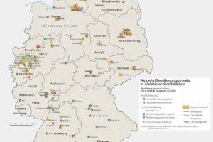 Deustchlandkarte Bevölkerungsentwicklung 09/2021