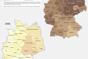 bdw-Deutschlandkarte Erwerbstätige