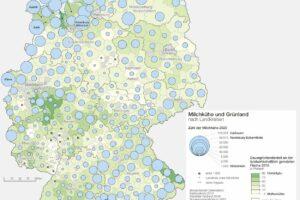 Deutschlandkarte Milchwirtschaft 08/2021
