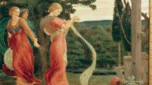 """Bateman,_Robert_1842–1922.__""""Three_Women_Plucking_Mandrakes""""_(Drei_Frauen_beim_Ausreißen_von_Alraunen),__um_1870._Deckfarbe_auf_Papier,_auf_Leinwand_aufgezogen,_31,2_×_45,8_cm._London,_Wellcome_Institute_Library."""