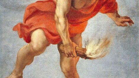 """Cossiers,_Jan,_1600–1671_(nach_Ölskizze_von_Peter_Paul_Rubens).__""""Prometheus"""",_um_1637.__(Prometheus_bringt_das_Feuer_zur_Erde)._Öl_auf_Leinwand,_182_×_113_cm._Aus_der_Serie_der_für_König_Philipp_IV._gemalten_Bilder_für_den_Jagdsitz_Torre_de_la_Parada_bei"""