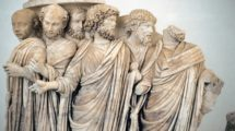 1018062_Sarcophagus_with_processus_consularis._Detail._Rome,_270_BC._Palazzo_Massimo_Alle_Terme._Rome._Italy.;_Palazzo_Massimo_alle_Terme_&_Museum,_Rome,_Lazio,_Italy;_(add.info.:_Roman_Art._A_lenos_sarcophagus_with_processus_consularis_(a_procession_for_