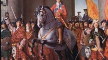 3697353_Bonnie_Prince_Charlie_enters_Edinburgh_in_1745_by_Unknown_Artist;_Private_Collection;_(add.info.:_Charles_Edward_Louis_John_Casimir_Sylvester_Severino_Maria_Stuart_(1720–88),_the_Stuart_claimant_to_the_throne_of_Great_Britain_after_1766,_was_known