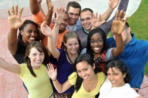 Multiethnische Gruppe von Sprachstudenten