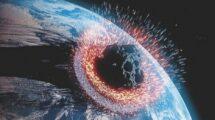 Symbolbild Meteoriteneinschlag auf der Erde